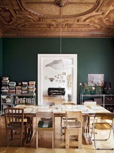 Lovely Books And Food All In One Place   Whatu0027s Not To Love? This Colorful Dining.  Colorful Dining RoomsUnique ChandelierMismatched ... Home Design Ideas
