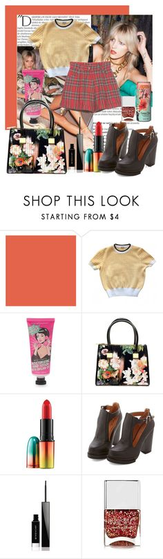 """""""Untitled #64"""" by tk88 ❤ liked on Polyvore featuring Balmain, Anja, Miu Miu, Simple Pleasures, Ted Baker, MAC Cosmetics, Givenchy and Nails Inc."""
