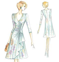 Marfy Dress. Nice design lines. Advanced sewing skills.