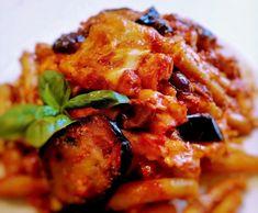 Pasta alla siciliana al forno Sicilian Recipes, Gnocchi, Mozzarella, Pasta Recipes, Soup, Chicken, Usa, Oven, Kitchen