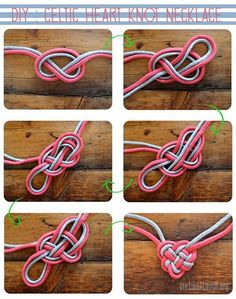 Do it yourself celtic heart knot necklace I know a couple of young ladies who would love this site.