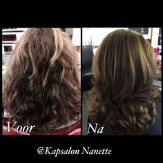 Color and blow dry treatment @ Kapsalon Nanette