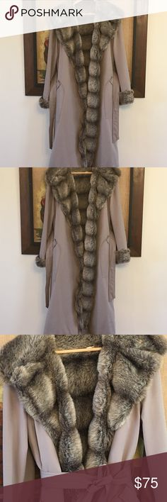 Vintage Full Length Fur Coat Fun Fur and canvas full length coat. In beautiful vintage condition... a little discoloration on the back but would probably come out with dry cleaning... otherwise very clean. Made in Columbia, vintage size 16 but would fit a modern day medium. Vintage Jackets & Coats