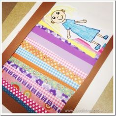 Fairy Tales: The Princess and the Pea: make a bed with scrapbook paper