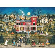 Bits And Pieces Puzzle 300 Piece Jigsaw Puzzles Halloween Puzzles Art Puzzle New #BitsandPieces