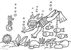 Ausmalbilder Ozean Meereswelt Meerestiere Unterwassertiere
