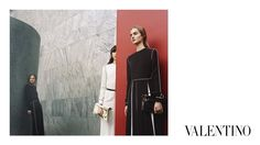 For its fall-winter 2015 campaign, Valentino reconnected with up and coming photographer Michal Pudelka. Models Grace Hartzel, Harleth Kuusik, Ine Neefs and Maartje Verhoef