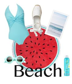 """#beach please"" by viola-carrara on Polyvore featuring moda, Dorothy Perkins, Melissa Odabash, Pottery Barn e COOLA Suncare"