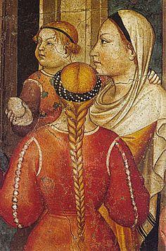 Niccolò di Pietro Gerini, La Remise des orphelins à leurs parents adoptifs, 1386, Musée del Bigallo, Florence