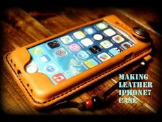 Making a Leather iPhone7 Case アイフォンケース - YouTube