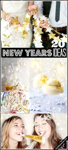 If you have no plans for New Year's Eve I hope this post inspires you to throw a Fun New Year's Party! I am sharing today 20 super fun and sparkling New Years Ideas! I hope you like them as much as I do… Time to celebrate!   1 I made this one for my own family... Our New Year's Eve...