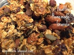 Homemade granola clusters! Healthy and delicious, the perfect any time of day snack