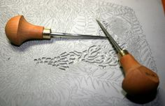 WHICH BLADE TO USE ON LINOCUTS: New Linocut Carving Tools 2 WEB