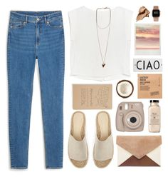 """""""Smile once in a while"""" by xogeorge ❤ liked on Polyvore featuring Comodynes, Fujifilm, MANGO, Mint Velvet, Bobbi Brown Cosmetics, Rosanna, Givenchy, ASOS, Blackbird Letterpress and Monki"""