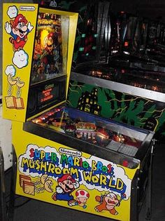 Super Mario Bros. Mushroom World pinball machine