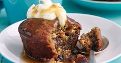Sticky date puddings with butterscotch sauce