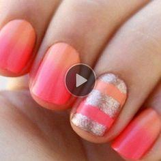 pink fade nails