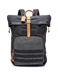 Whether you're taking a hike or heading to the office, our Defender in waxed cotton canvas boasts a unique rolltop design with an adjustable, leather cinch strap for extra durability.*Will be shipped separately from other products Leather Backpack For Men, Leather Men, Mens Party Wear, Branded Shoes For Men, Men's Backpacks, Leather Backpacks, Urban Fashion Trends, Backpack Reviews, Backpack Online