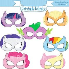 "Printable masks (found on <a href=""https://www.etsy.com/au/listing/150582435/pony-printable-masks-pony-mask-horse"" ..."