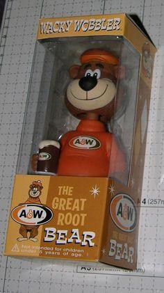 A&W THE GREAT ROOT BEAR WACKY WOBBLER FUNKO ROOT BEER ADVERTISING CHARACTER 2006 Shakeys Pizza, Hack My Life, Wacky Wobbler, Mall Stores, A&w Root Beer, Baskin Robbins, Dairy Queen, Random Stuff, Cool Stuff