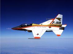 Korean Aerospace Industries KAI T-50 Golden Eagle trainer. A light strike fighter version also exists.