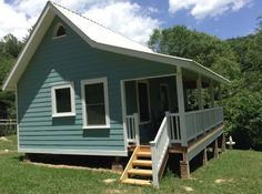 Couple Build 384 Sq. Ft. Tiny Country Cottage. UPDATED with new pictures and a floorplan.