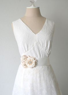 Floral Wedding Sash Belt with French Lace by rosyposydesigns, $172.00