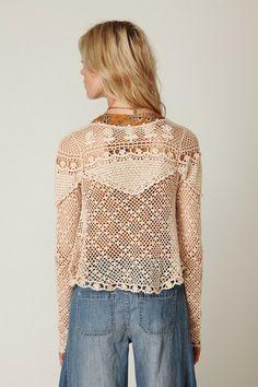 Excelente Crochet: Freee pessoas. Casaquinho de verão.