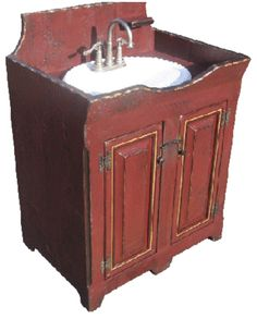 Wash Stand Vanity Base Cabinet-Country Rustic Primitive Furniture
