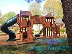 My FAVE play set! Kid's Dream fun outdoors! Play Grounds for the whole family !  www.glickswoodworking.com
