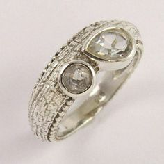 Semi Precious CRYSTAL QUARTZ Ring Size US 7.5 Solid 925 Sterling Silver Jewelry #Unbranded Crystal Ring, Quartz Crystal, Silver Jewellery Indian, Quartz Ring, Fashion Rings, Sterling Silver Jewelry, Jewels, Gemstones, Jewerly