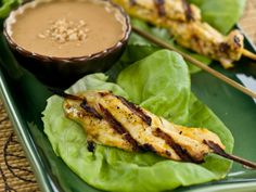 Chicken Satay with Peanut Sauce from FoodNetwork.com