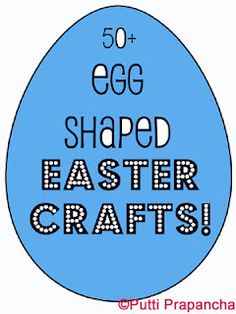 50 Art Ideas -can be adapted to other seasons & shapes besides Easter & eggs! Tape resist, sticker resist, momochrome prints, lots more!