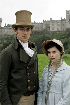 JJ Feild as Henry Tilney and Felicity Jones as Catherine Morland in Northanger Abbey