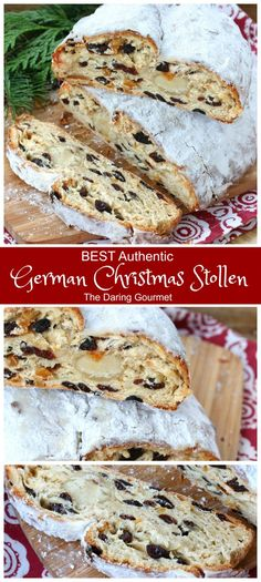 Flaky moist aromatic and divinely flavorful these homemade German Christmas Stollen are INCREDIBLE! Flaky moist aromatic and divinely flavorful these homemade German Christmas Stollen are INCREDIBLE! Christmas Bread, Christmas Desserts, Christmas Baking, German Christmas Cookies, German Christmas Stollen Recipe, Traditional German Stollen Recipe, Authentic German Stollen Recipe, German Stollen Bread Recipe, Gourmet