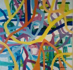 Maleri 100x100 cm Merkur Johnny Røn Andersen Painting, Art, Kunst, Art Background, Painting Art, Paintings, Performing Arts, Painted Canvas, Drawings