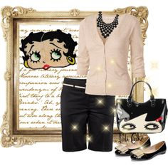 Lulu Guiness Doll Face Bag., created by pati777 on Polyvore....cute!