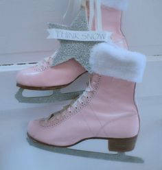 ice skates - I heart these so much, even though no one ice skates around here. I wish a had a pair without the blades to wear as regular boots!