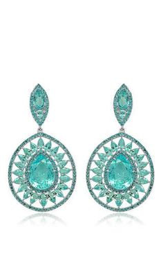 Couture paraiba earrings by SUTRA for Preorder on Moda Operandi