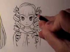How to Draw Manga Hair: Curly Vs. Straight [HTD Video #13] Anime Drawing Styles, Manga Drawing, Drawing Heads, Sketching Tips, Drawing Techniques, Drawing Tips, Manga Hair, Anime Hair, Manga Anime