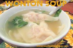 A steaming hot bowl of Wonton soup full of fresh and delicious flavors is so easy to make and so much better than takeout! My kids said this was the best soup that I have made. WOW! I make a...
