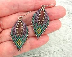 Best Seed Bead Jewelry  2017  Russian Leaf Earrings  Embellished with Anabel's Design  Seed Bead Tutoria
