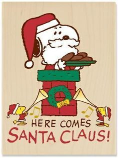 'Here Comes Snoopy as Santa Clause', a Charlie Brown Christmas. Peanuts Christmas, Charlie Brown Christmas, Charlie Brown And Snoopy, Merry Little Christmas, Christmas Print, Christmas Greetings, Christmas Cookies, Vintage Christmas, Xmas