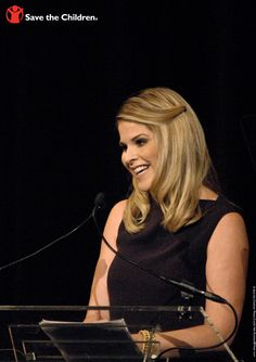Jenna Bush Hager. On October 1, 2013, @ Calvin Klein presented its first-ever @ Save the Children #CK4PreK Gala. http://www.savethechildren.org/site/c.8rKLIXMGIpI4E/b.8193011/?msource=wespickg1013 #PreK4All
