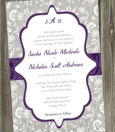 Purple Wedding Invitations - Bitsy Bride (shared via SlingPic)