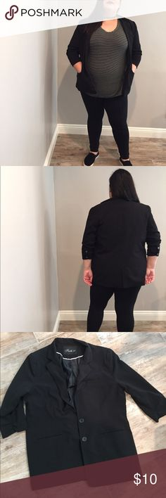 Forever 21 plus size black blazer Forever 21 mint condition black plus size blazer 1xl Forever 21 Jackets & Coats Blazers