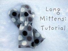 Tutorial: Long fleece mittens