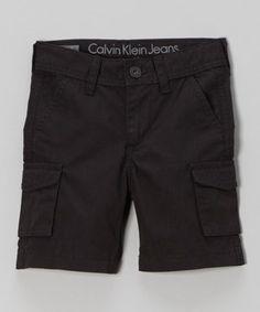 Another great find on #zulily! Calvin Klein Jeans Black Cargo Shorts - Infant & Toddler by Calvin Klein Jeans #zulilyfinds