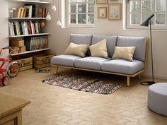 Hexawood Tan / Chevron Tan Right effect, - Wood Parquet Tiles, Flooring, Porcelain Wall Tile, Wood Tile, Wooden Tile, Interior Design, Furniture, Wood Tile Pattern, Living Room Tiles