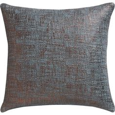 """CB2 Glitterati Slate 16"""" Pillow With Feather Insert ($30) ❤ liked on Polyvore featuring home, home decor, throw pillows, pillows, graphic throw pillows, cb2, square throw pillows, plush throw pillows and metallic throw pillows"""